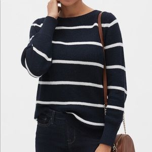 New BANANA REPUBLIC Navy White Striped Sweater S